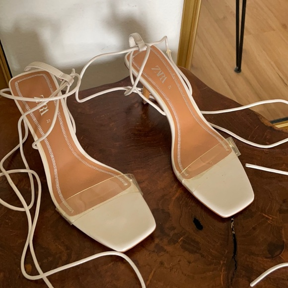 Zara clear strappy sandals